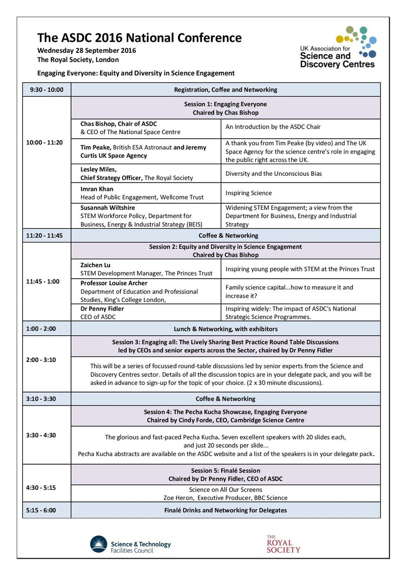 2016 ASDC Conference Programme