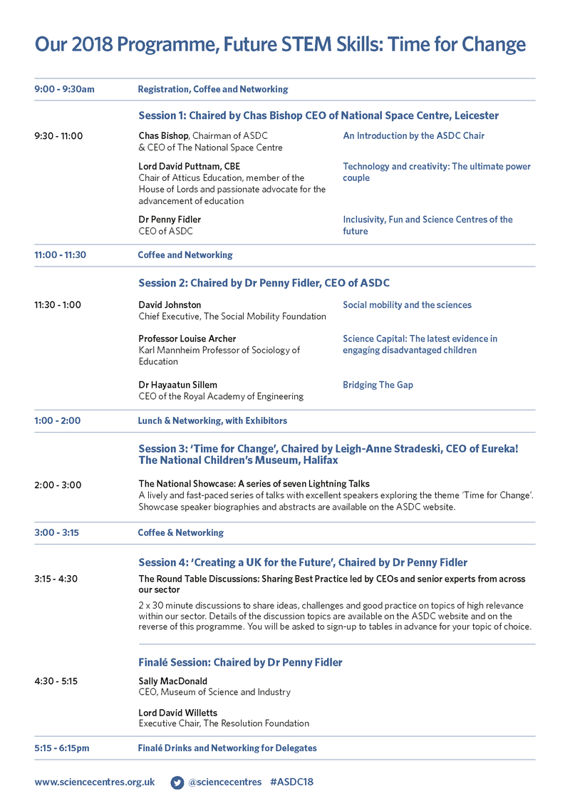 ASDC Conference 2018 Programme